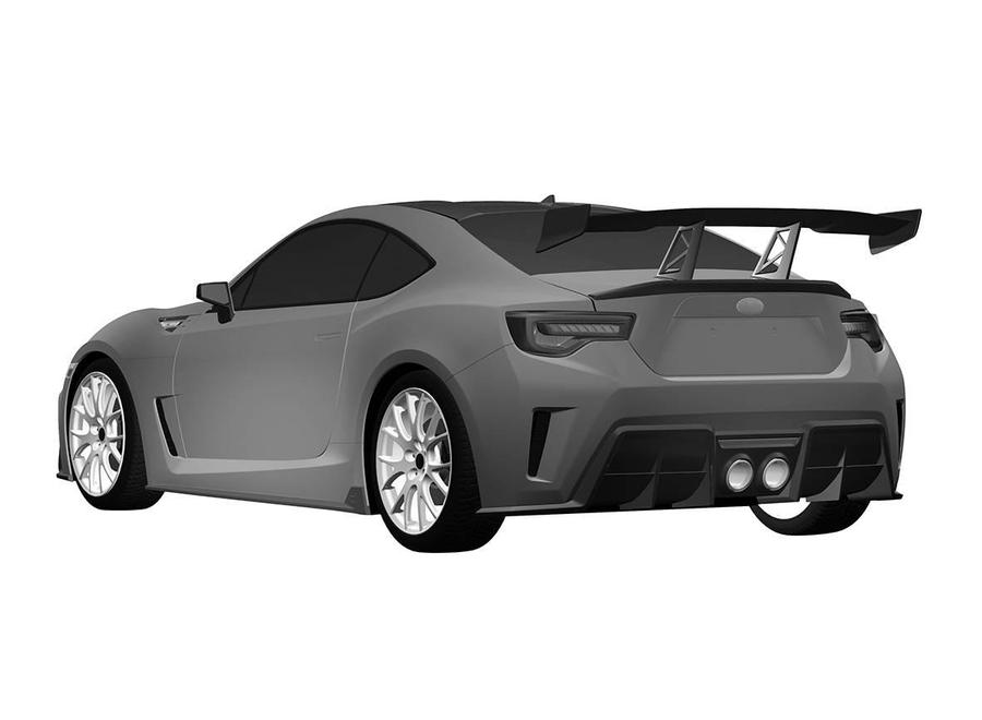 Патентное изображение нового варианта Subaru BRZ