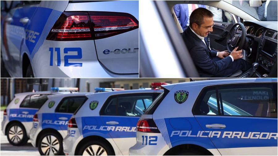 Албанские полицейские получили партию электрических Фольксваген Golf