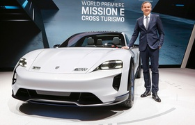 Женева 2018: концепт 600-сильного электромобиля Porsche Mission E Cross Turismo