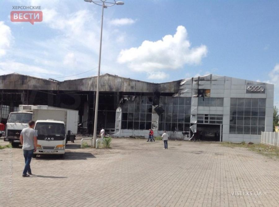 Завод «Випос» после пожара в 2014 году