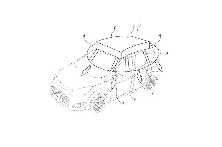 Ford запатентовал солнечные панели для электрокаров