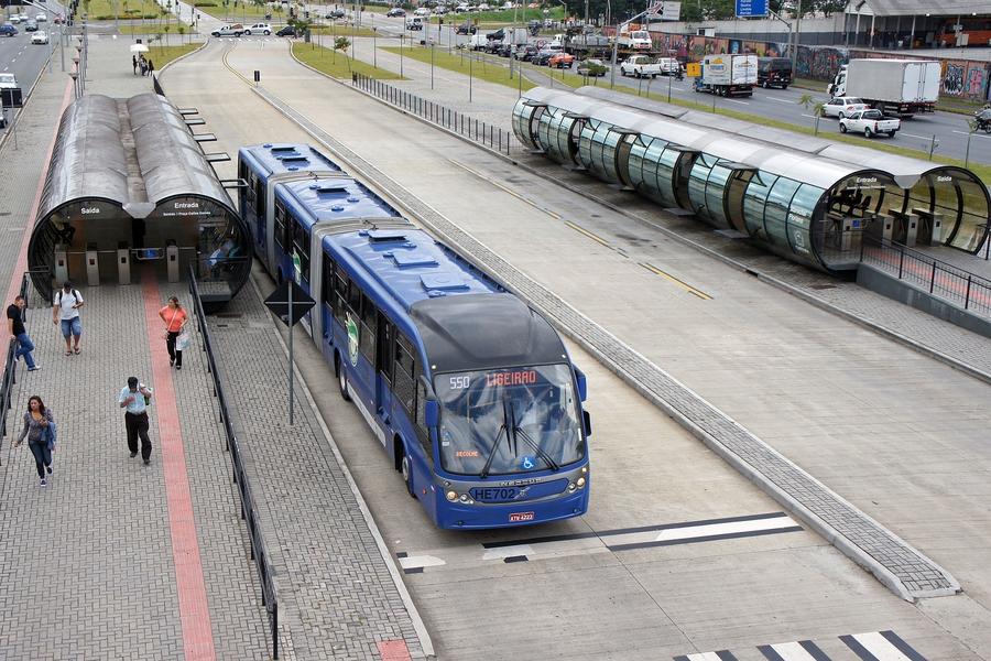 Автобусная система BRT в городе Куритиба