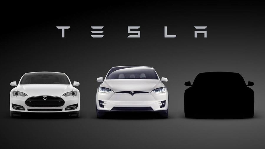 Тизер Tesla Model 3