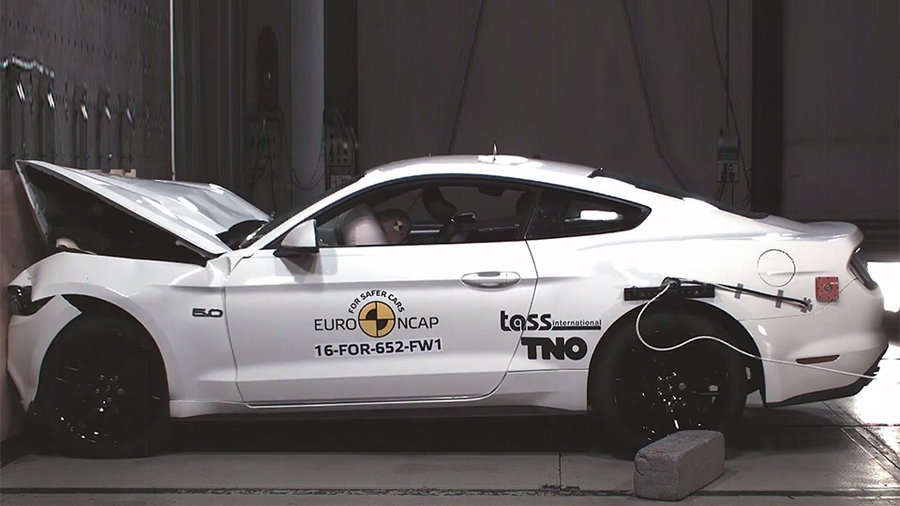 Ford Mustang краш-тест