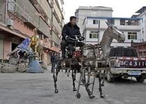 Китайский пенсионер построил роболошадь с бензиновым мотором (видео)