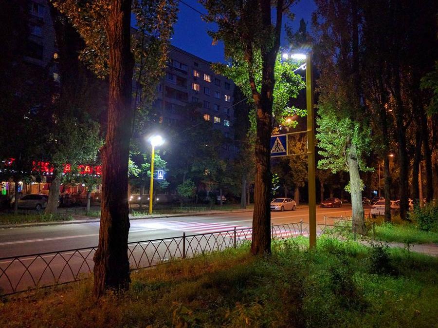 Пешеходный переход на Русановке