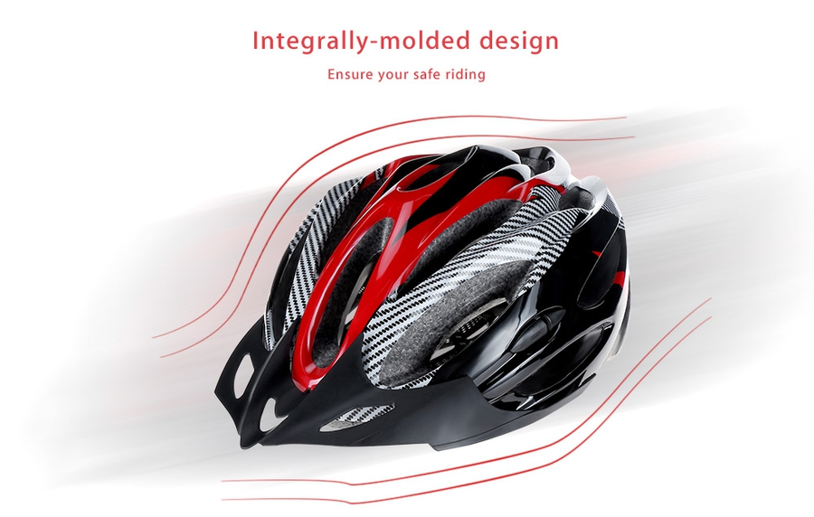 Integrally Molded Cycling Helme