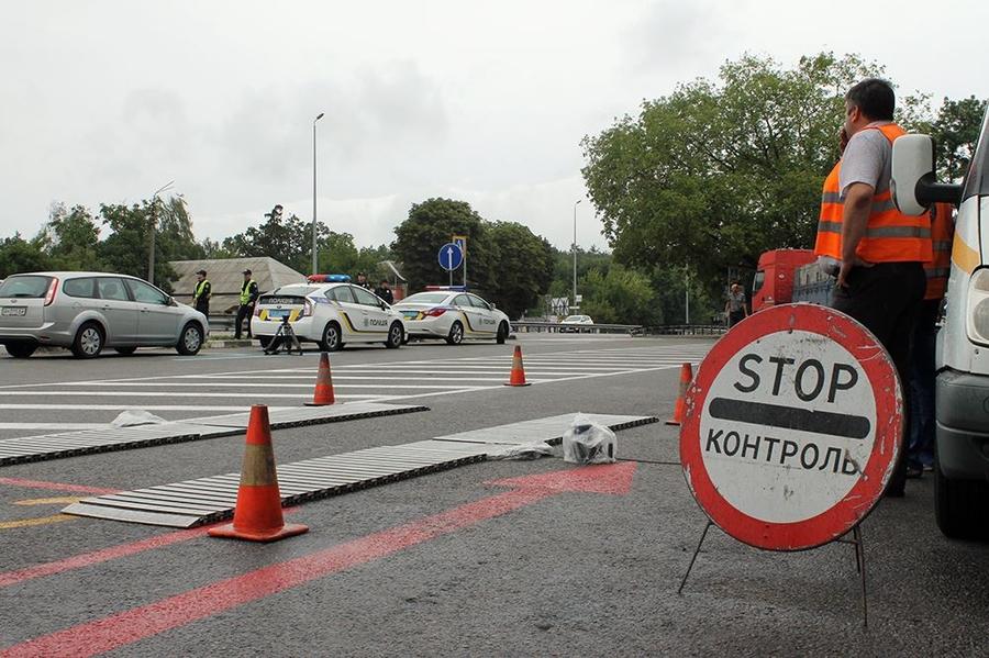 Пункт габаритно-весового контроля на въезде в Киев