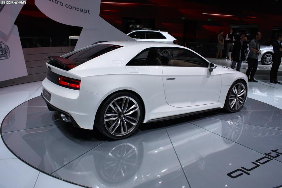 Audi quattro concept на автосалоне в Париже в 2010 году