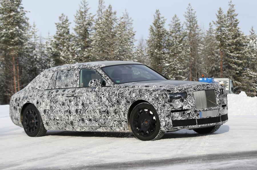 Новый Rolls-Royce Phantom на испытаниях