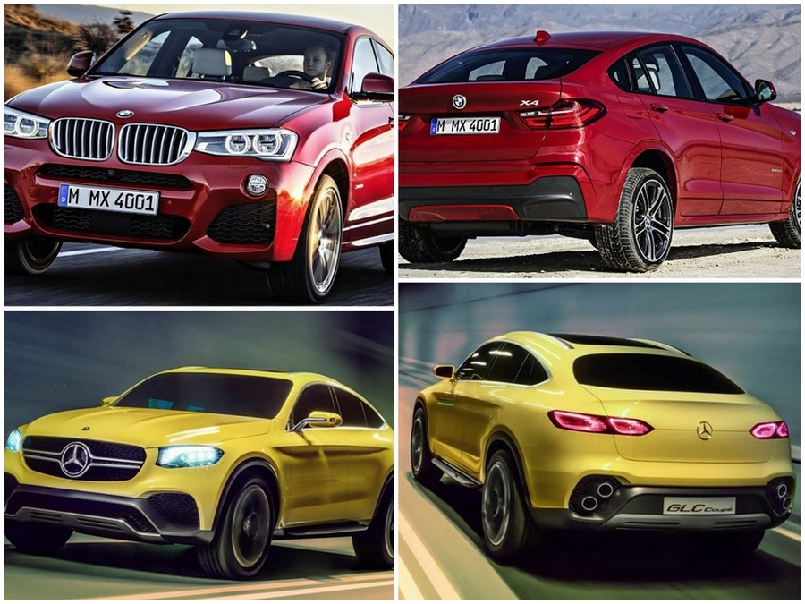 Mercedes-Benz GLC Coupe Concept vs. BMW X4