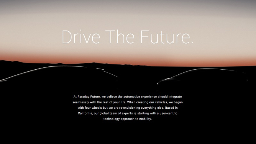 Силуэты серийных автомобилей Faraday Future
