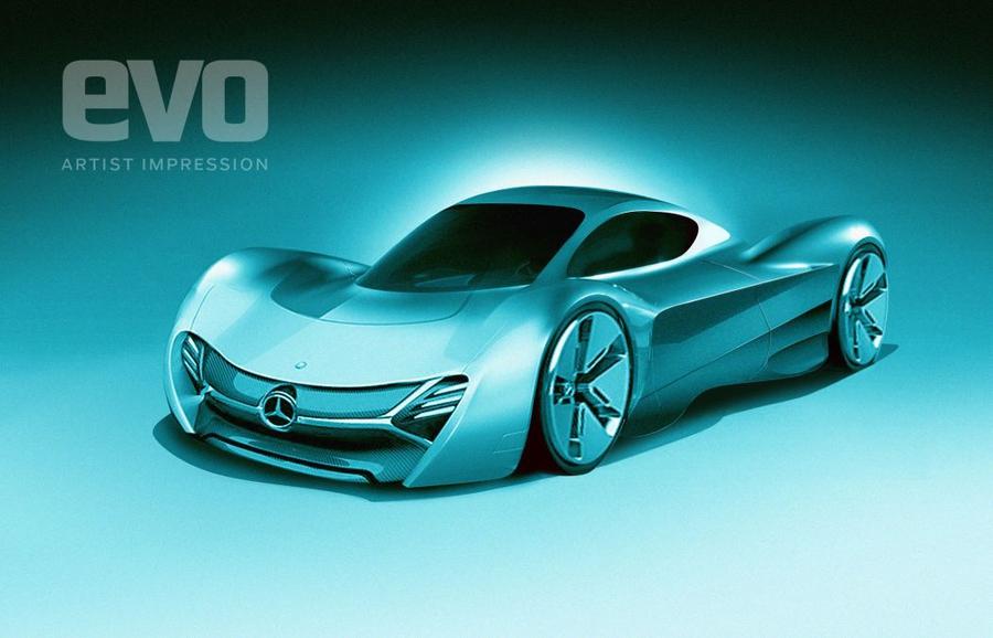 Предполагаемый внешний вид нового суперкара Mercedes-AMG от дизайнеров издания Evo