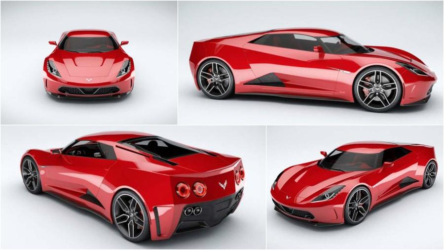 Предполагаемый дизайн Corvette C8