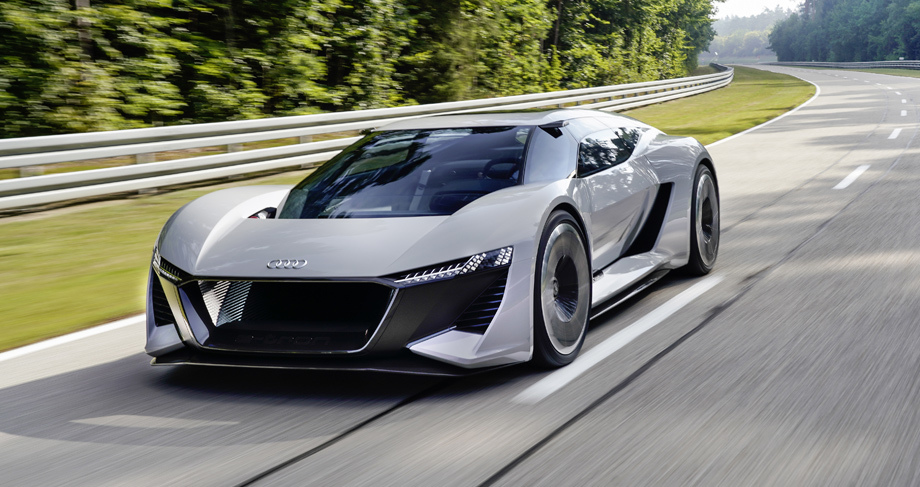 Audi привезла в Пеббл-Бич концепт электрического суперкара с подвижным монококом