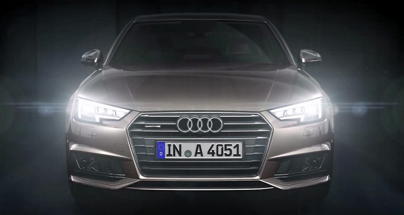 Audi сравнила LED-фары новой A4 с глазами хамелеона