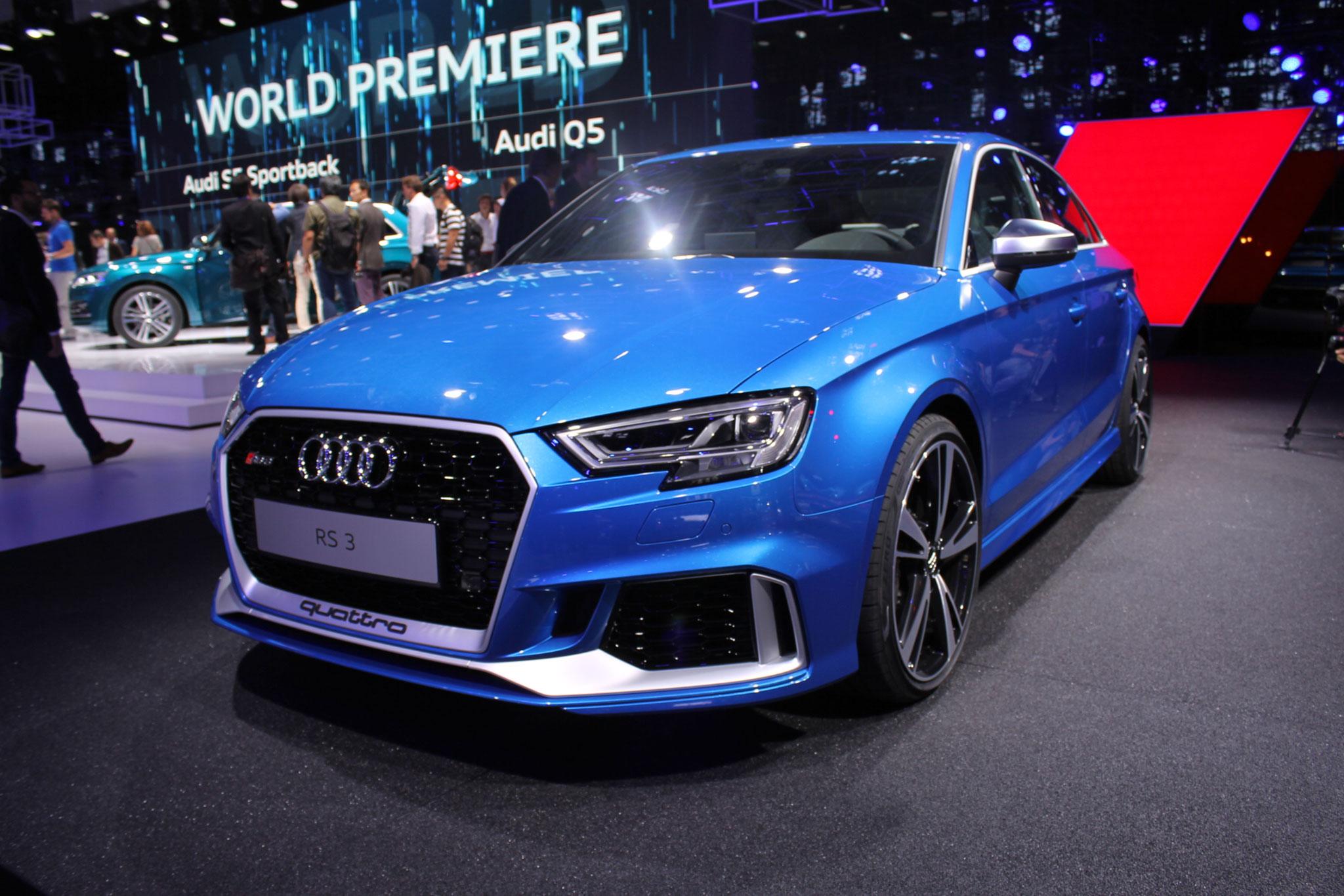 Audi представила «заряженный» седан RS3