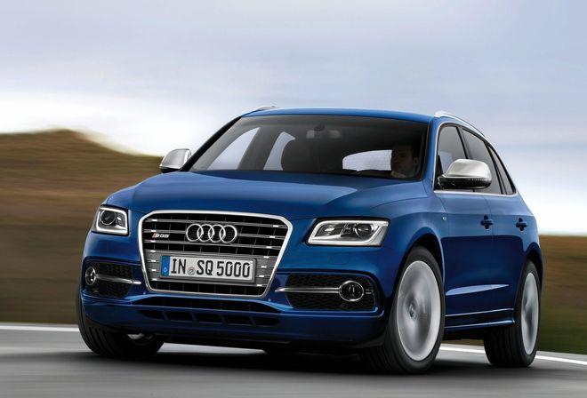 Audi SQ5 TDI 2013 — экстерьер, в динамике