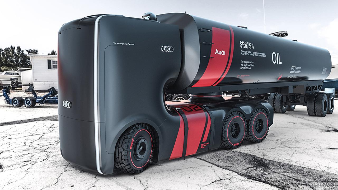 Для Audi придумали электрические фуры