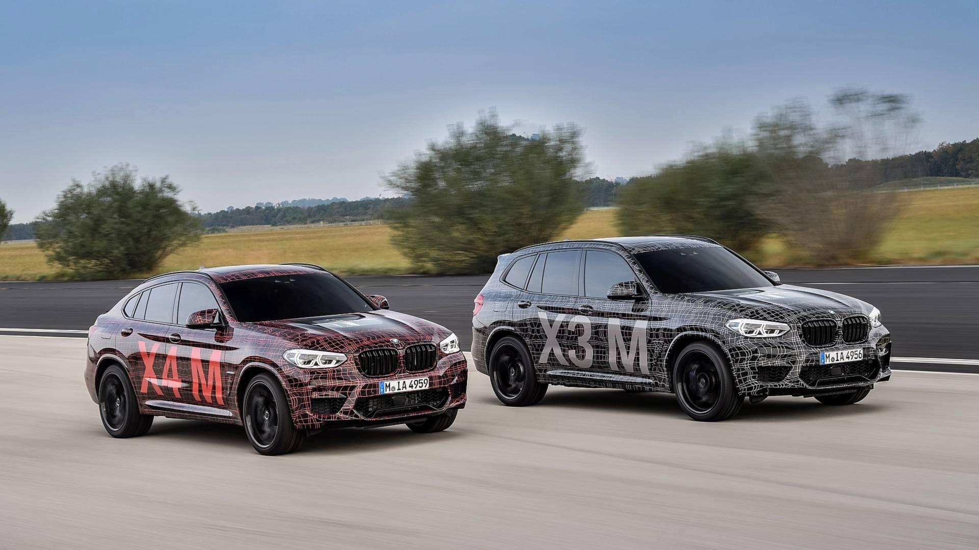 Спортивные версии кроссоверов BMW X3 и X4 показали на видео