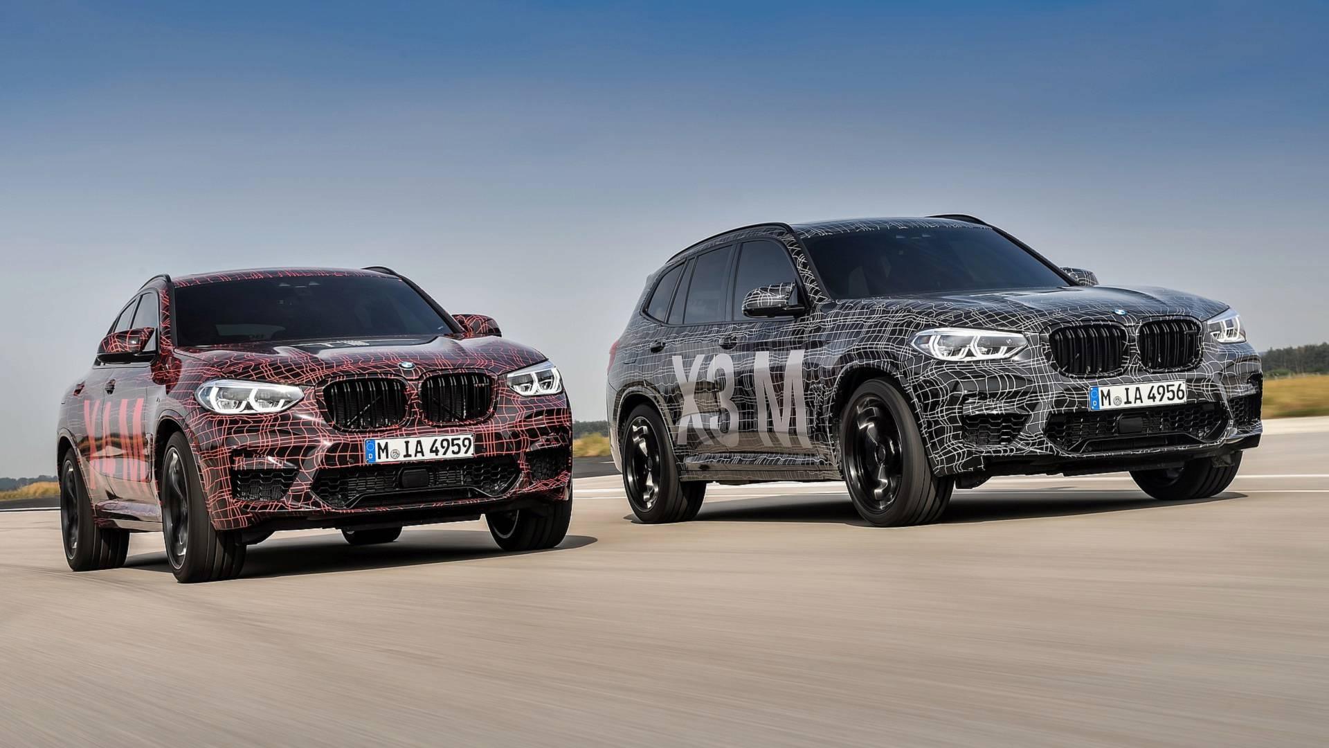 Кроссоверы BMW X3 M и X4 M показали на Нюрбургринге