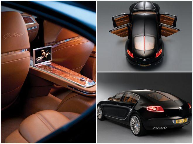 Bugatti Galibier — коллаж, интерьер и экстерьер