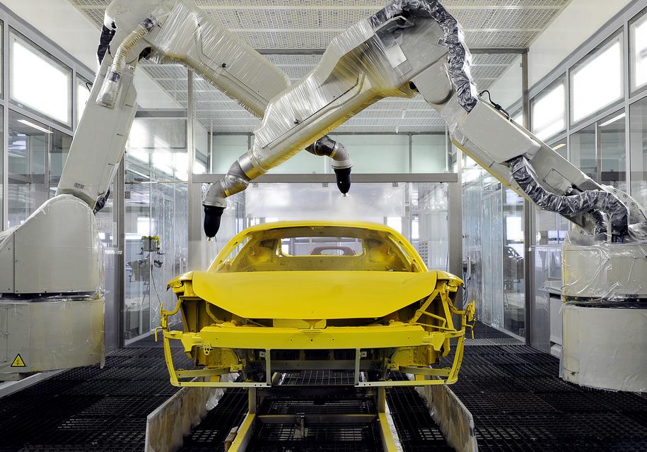 Ferrari освоила новую технологию окраски кузова