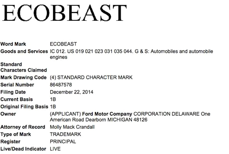Патент Ford EcoBeast