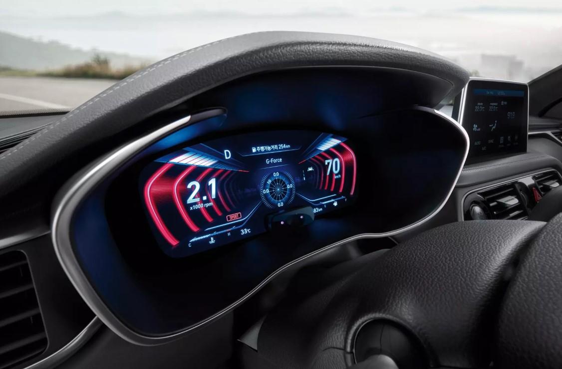 Обновленный седан Genesis G70 получил трехмерную «приборку»