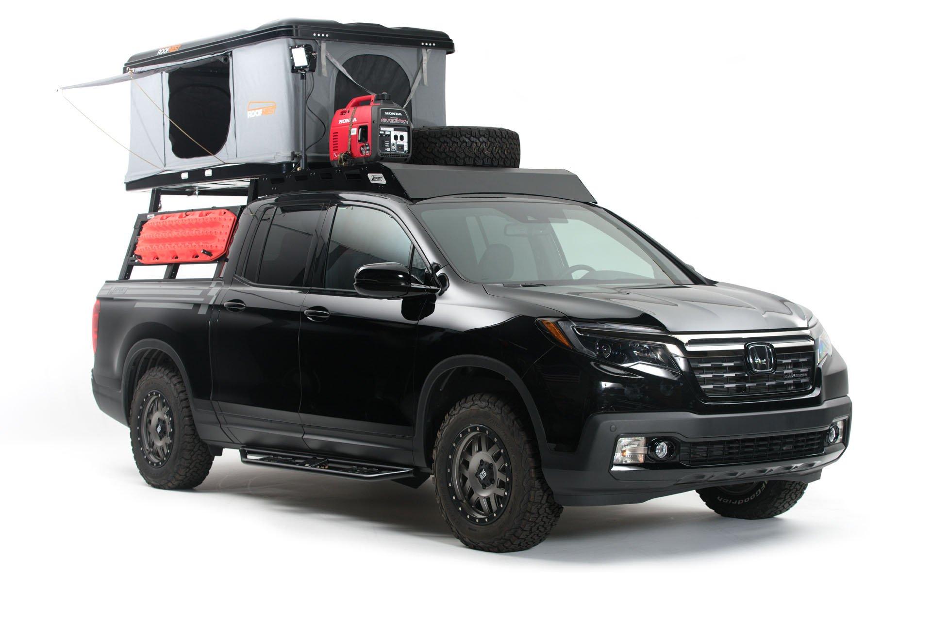 Пикап Honda Ridgeline превратился в палатку на колёсах ради выставки SEMA