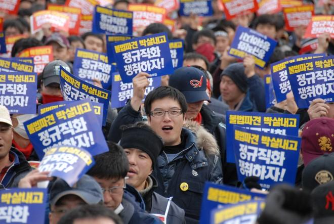 Сборщики Hyundai требуют оплату золотом
