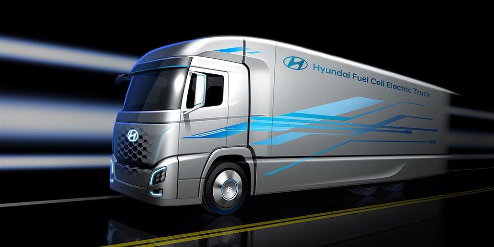 Hyundai анонсировала новый водородный грузовик