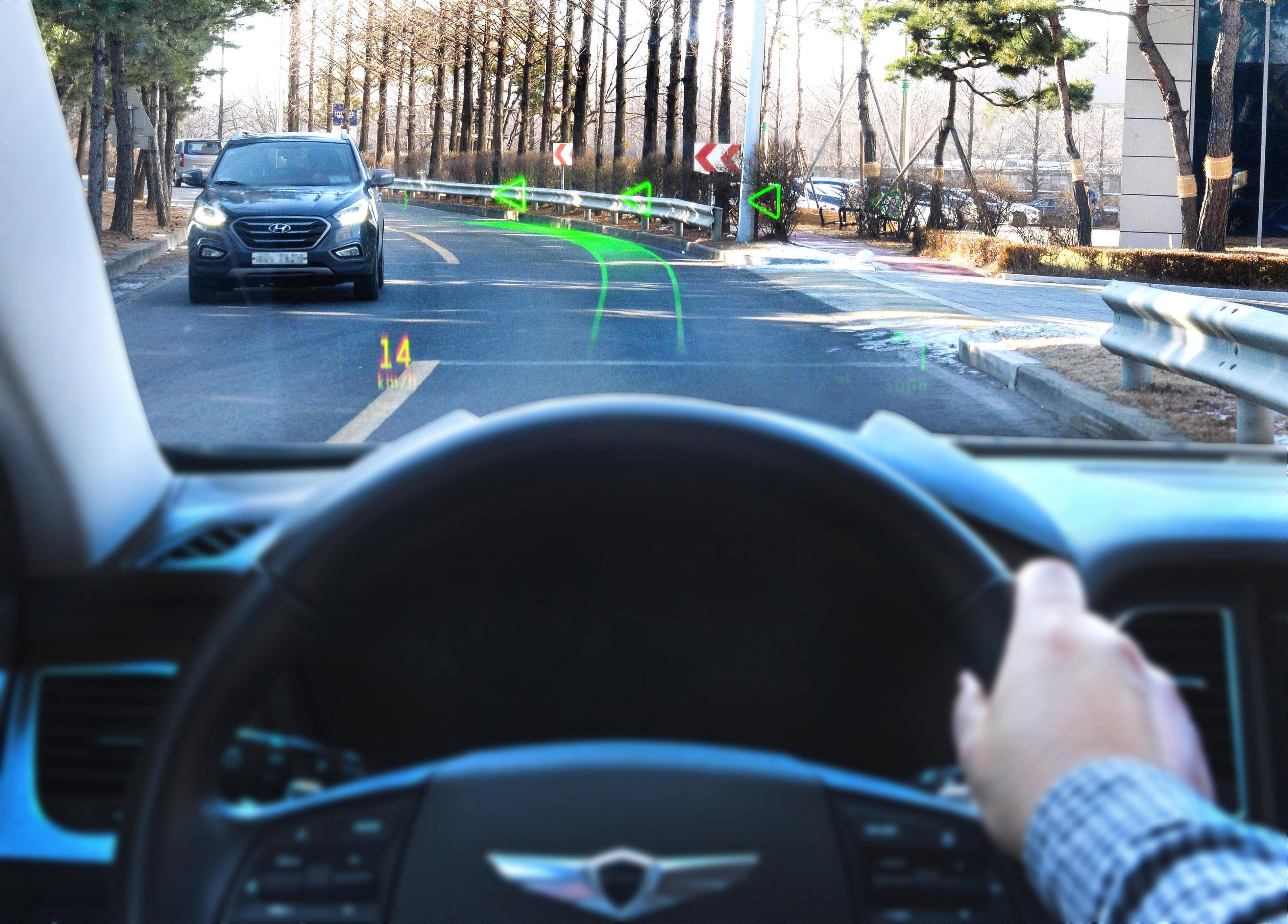 Hyundai внедрила дополненную реальность в проекционный дисплей