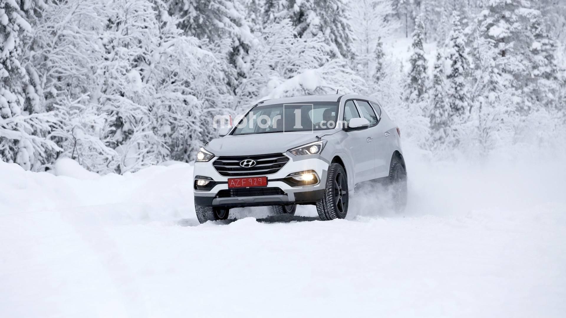 Кроссовер Genesis вышел на тесты под видом Hyundai Santa Fe
