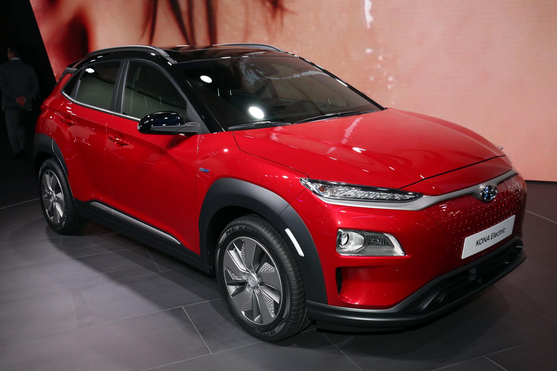 Женева 2018: «живые» фотографии кроссовера Hyundai Kona Electric