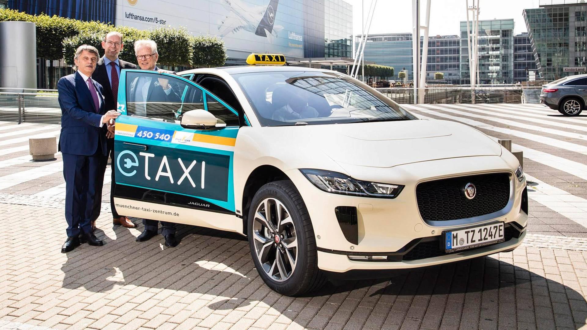 Электрический Jaguar I-Pace стал автомобилем такси в Германии
