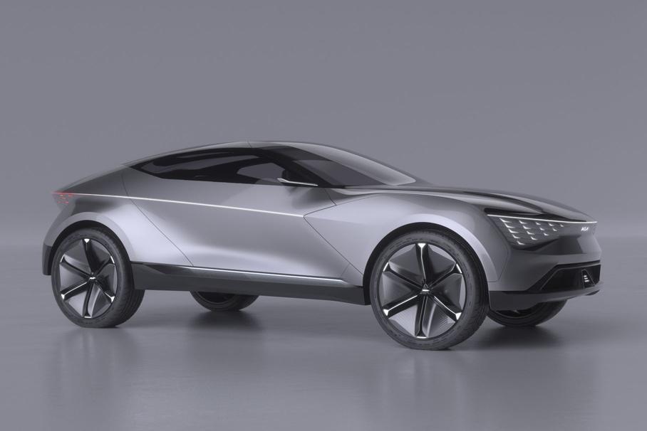 Компания Kia показала первые изображения купе-кроссовера в космическом дизайне