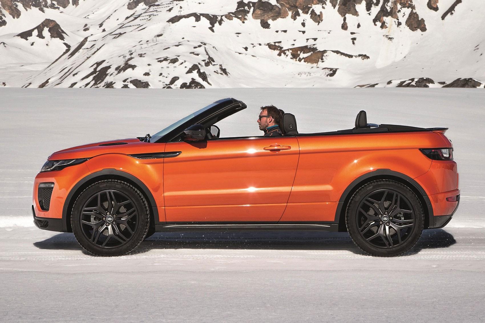 ВУкраине поступил в продажу Range Rover Evoque вкузове кабриолет class=