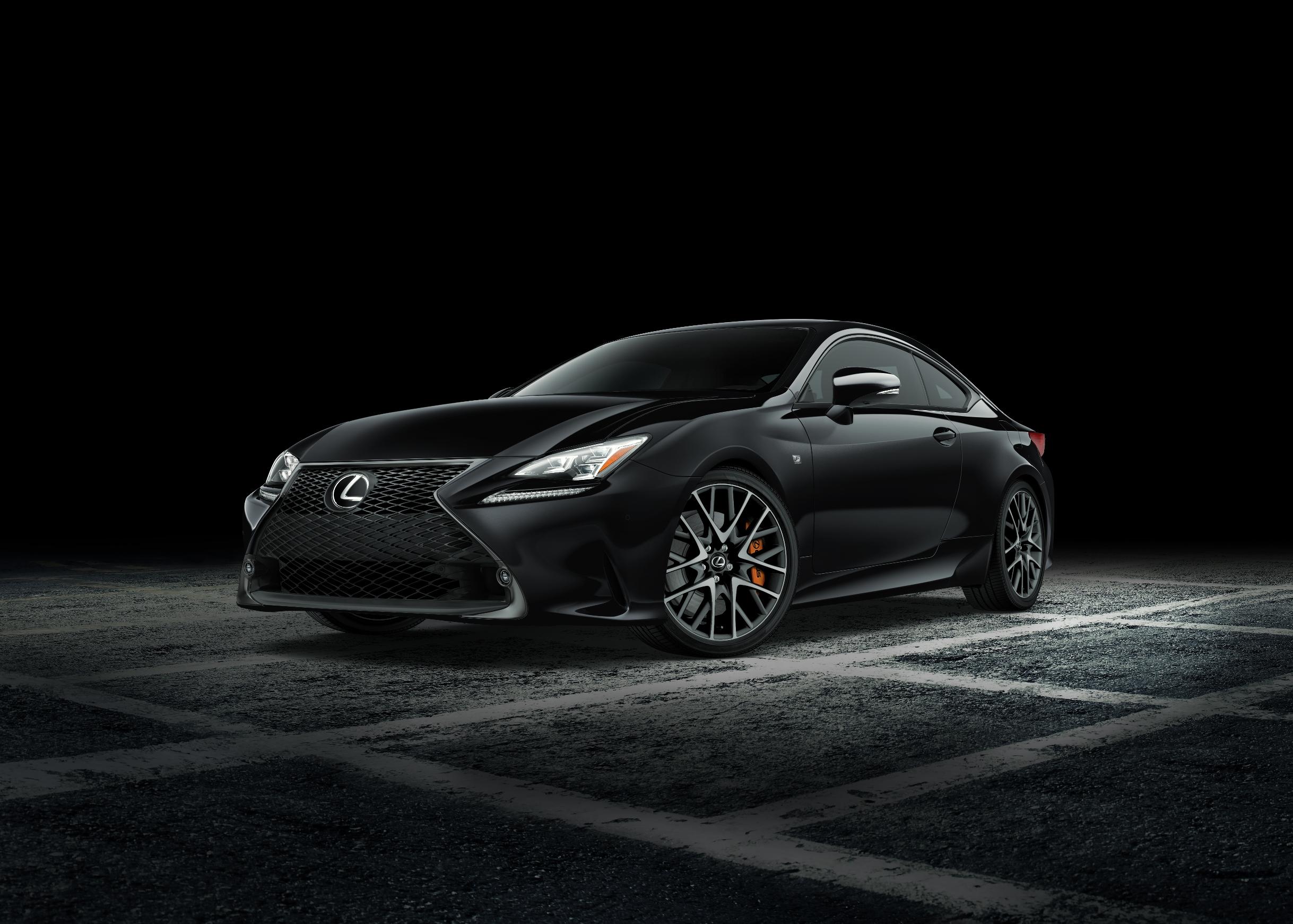 Lexus RC Black Line Special Edition покажут в Нью-Йорке