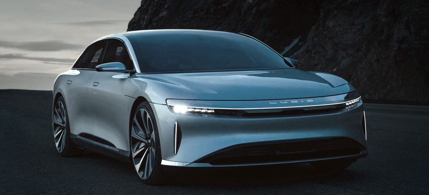 Электрический седан Lucid Air оценили дешевле Tesla Model S