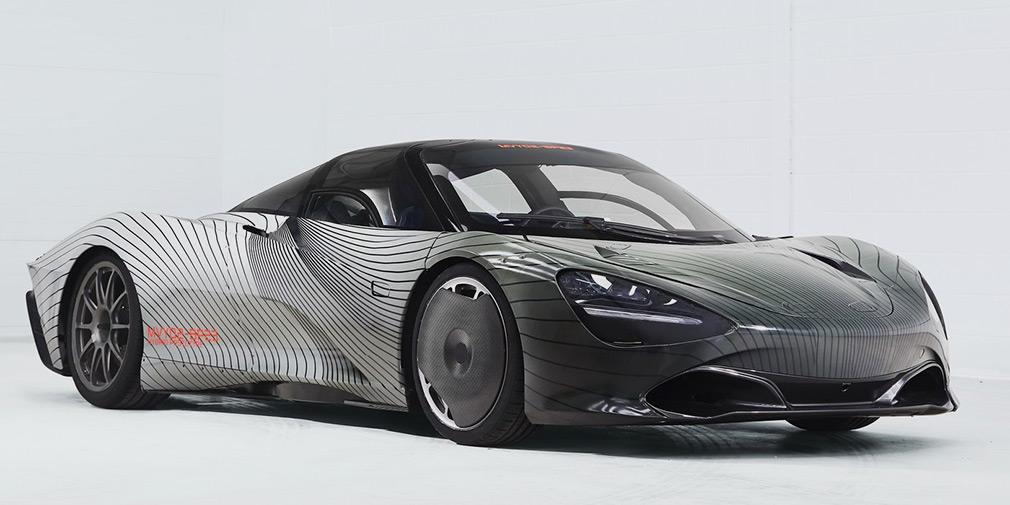 McLaren представил первый тестовый образец гиперкара Speedtail