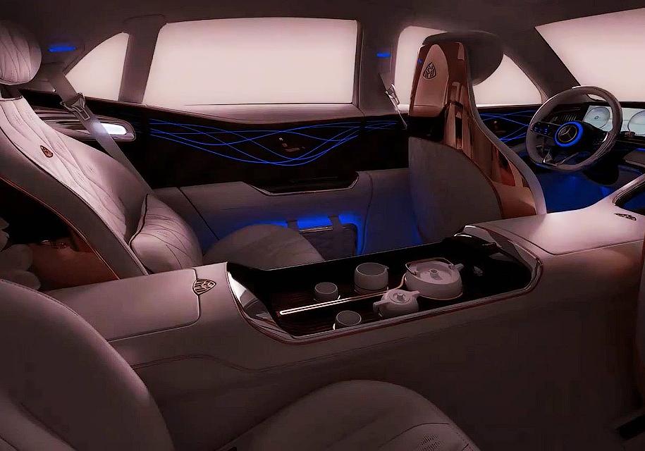 В салоне нового концепта Mercedes-Maybach будет чайный сервиз