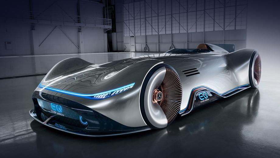 Электрический концепт Mercedes-Benz Vision EQ Silver Arrow дебютировал в Пеббл-Бич