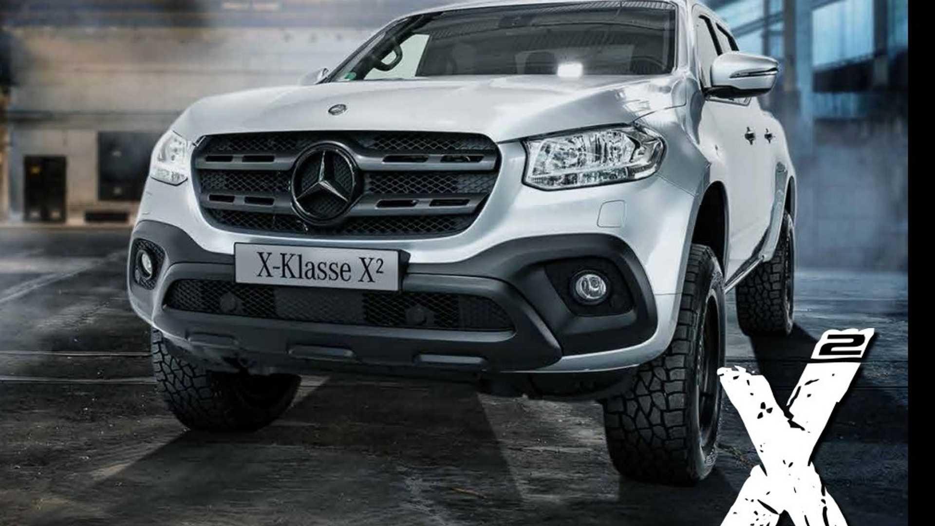 Пикап Mercedes-Benz X-Class X² подготовили к бездорожью