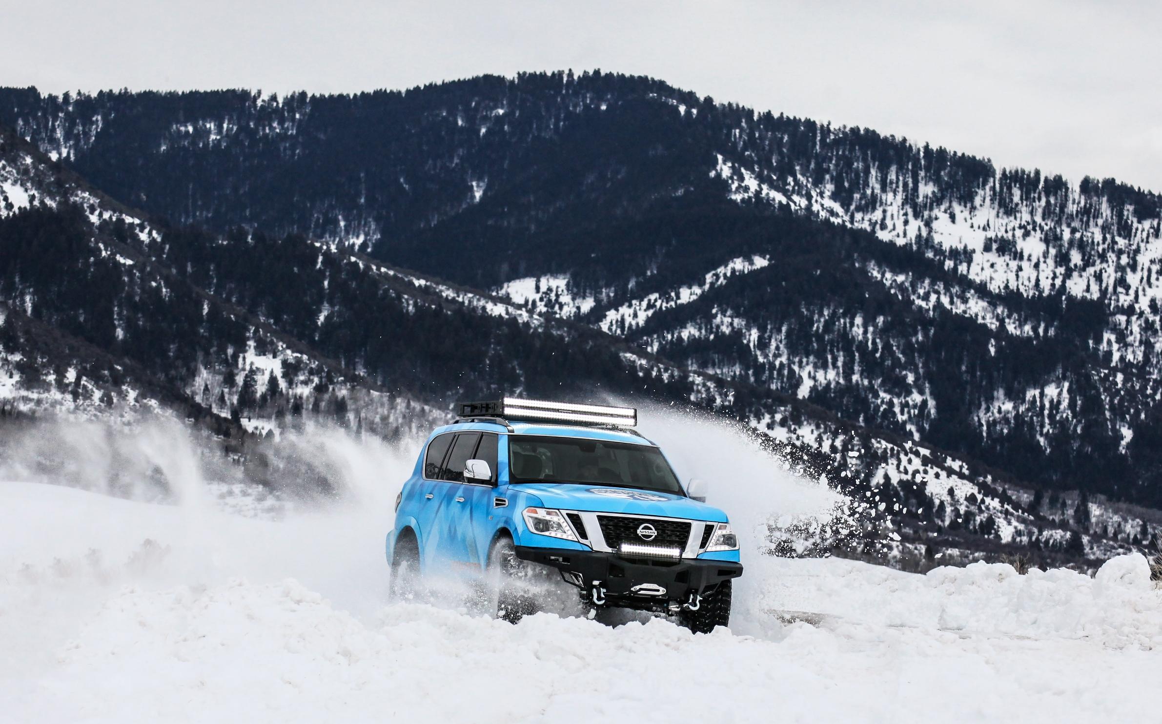 Nissan рассекретил экстремальный внедорожник Armada Snow Patrol