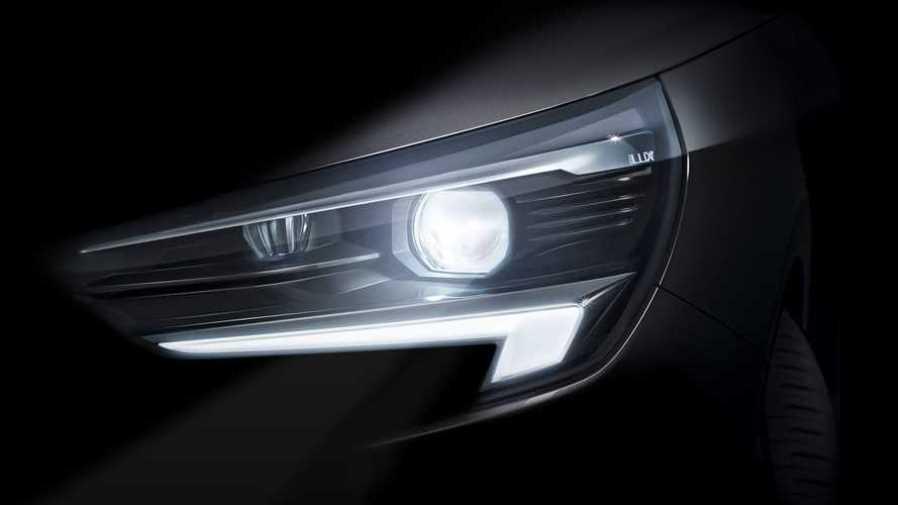 Opel показал оптику хэтчбека Corsa нового поколения