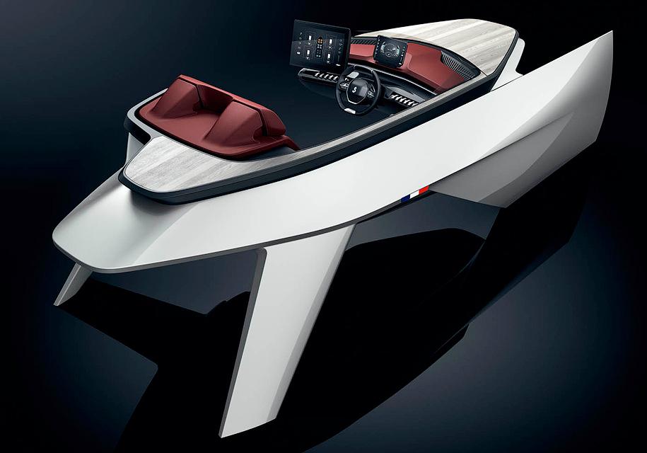 Пежо разработала чудный дизайн для моторной лодки Sea Drive