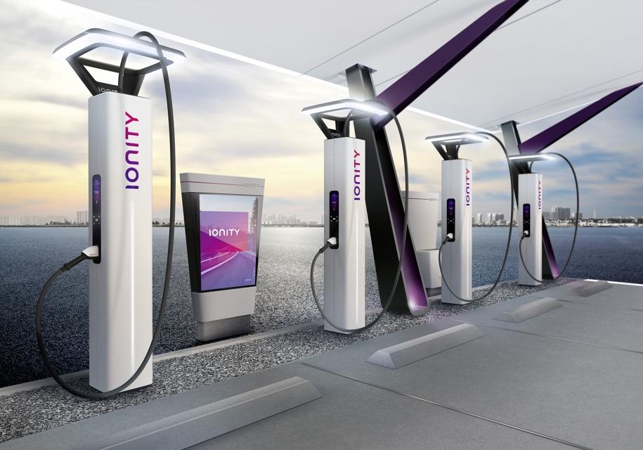 В Женеве показали как будут выглядеть зарядные станции Ionity