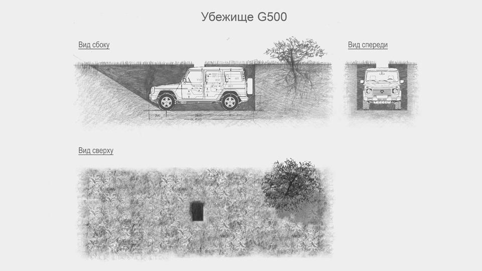 Mercedes-Benz G-Class закопают в землю как объект искусства