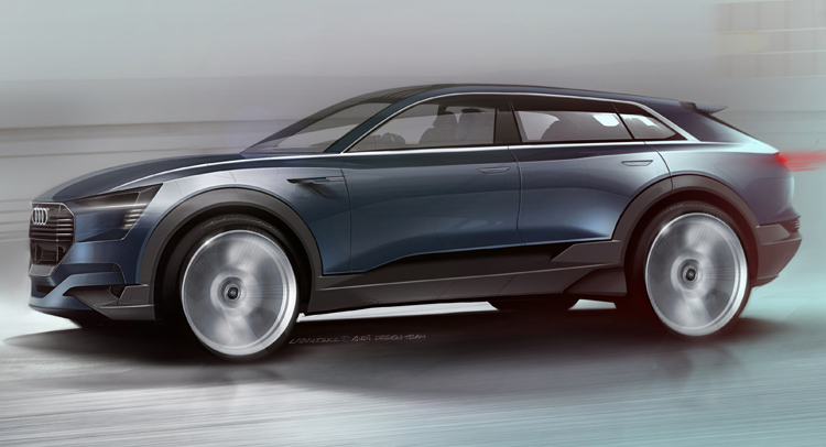 Электрический кроссовер Audi назовут E-Tron Quattro